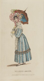 'Walking Dress', July 1829, published by Rudolph Ackermann, published in  R. Ackermann's Repository of Fashions - NPG D47629