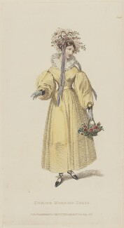 'English Morning Dress', May 1829, published by Rudolph Ackermann, published in  R. Ackermann's Repository of Fashions - NPG D47631