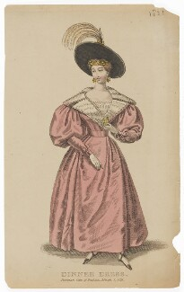 'Dinner Dress', March 1831, published in The Parisian Gem of Fashion - NPG D47656