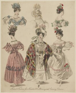 'Newest Fashions for November 1831. Morning and Evening Dresses', published in The World of Fashion and Continental Feuilletons - NPG D47658