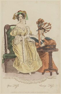 'Opera Dress. Carriage Dress', March 1832, published by Whittaker & Co, published in  La Belle Assemblée or Bell's Court and Fashionable Magazine - NPG D47661