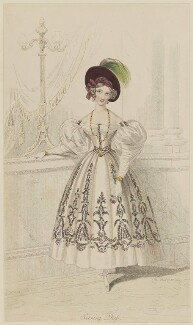 'Evening Dress', 1832, by William Hopwood, probably published by  Edward Bull, probably published in  The Court Magazine and Belle Assemblée - NPG D47662