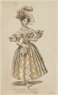 'Dinner Dress', 1832, published by Joseph Robins, probably published in  The Parisian Gem of Fashion - NPG D47665