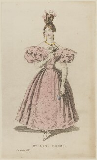'Evening Dress', September 1832, probably published by Joseph Robins, probably published in  The Parisian Gem of Fashion - NPG D47666