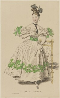 'Ball Dress', November 1832, probably published by Joseph Robins, probably published in  The Parisian Gem of Fashion - NPG D47667