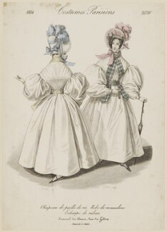 'Costumes Parisiens', number 3179, by Georges Jacques Gatine, after  Louis Marie Lanté, published in  Le Journal des Dames et des Modes - NPG D47668