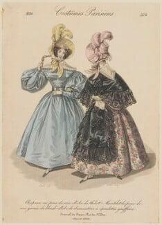 'Costumes Parisiens', number 3174, by Georges Jacques Gatine, after  Louis Marie Lanté, published in  Le Journal des Dames et des Modes - NPG D47669