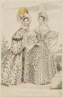 'Breakfast & Dinner Dresses', September 1835, by S.S.G., published by  Edward Churton, published in  The Court Magazine and Belle Assemblée - NPG D47674