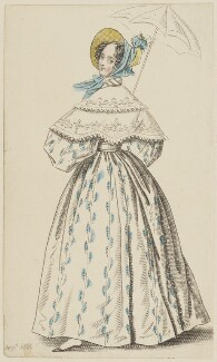 'London Walking Dress', August 1835, published by Joseph Robins, published in  The Ladies' Pocket Magazine - NPG D47675