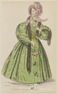 'London Carriage Dress', January 1836, published by Joseph Robins, published in  The Ladies' Pocket Magazine - NPG D47683