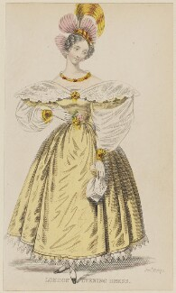'London Evening Dress', January 1836, published by Joseph Robins, published in  The Ladies' Pocket Magazine - NPG D47703