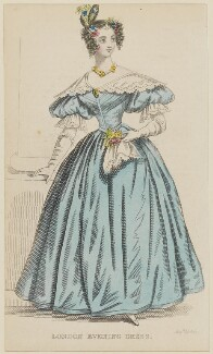 'London Evening Dress', February 1836, published by Joseph Robins, published in  The Ladies' Pocket Magazine - NPG D47694