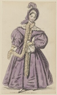 'London Walking Dress', February 1836, published by Joseph Robins, published in  The Ladies' Pocket Magazine - NPG D47681