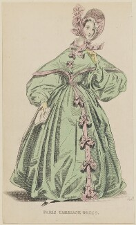 'Paris Carriage Dress', February 1836, published by Joseph Robins, published in  The Ladies' Pocket Magazine - NPG D47688