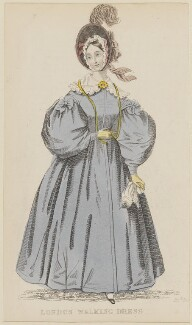 'London Walking Dress', April 1836, published by Joseph Robins, published in  The Ladies' Pocket Magazine - NPG D47689