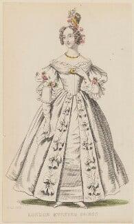 'London Evening Dress', April 1836, published by Joseph Robins, published in  The Ladies' Pocket Magazine - NPG D47693