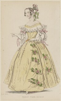 'Paris Ball Dress', March 1836, published by Joseph Robins, published in  The Ladies' Pocket Magazine - NPG D47709