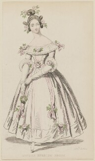 'London Evening Dress', June 1836, published by Joseph Robins, published in  The Ladies' Pocket Magazine - NPG D47700