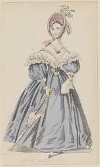 'London Walking Dress', June 1836, published by Joseph Robins, published in  The Ladies' Pocket Magazine - NPG D47690