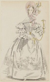 'Paris Dinner Dress', July 1836, published by Joseph Robins, published in  The Ladies' Pocket Magazine - NPG D47682