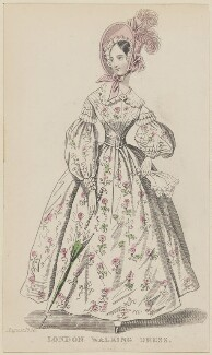 'London Walking Dress', August 1836, published by Joseph Robins, published in  The Ladies' Pocket Magazine - NPG D47687