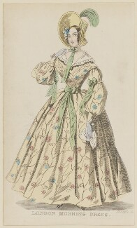 'London Morning Dress', October 1836, published by Joseph Robins, published in  The Ladies' Pocket Magazine - NPG D47686