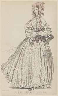 'Paris Dinner Dress', November 1836, published by Joseph Robins, published in  The Ladies' Pocket Magazine - NPG D47705