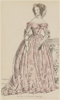 'Paris Evening Dress', December 1836, published by Joseph Robins, published in  The Ladies' Pocket Magazine - NPG D47708