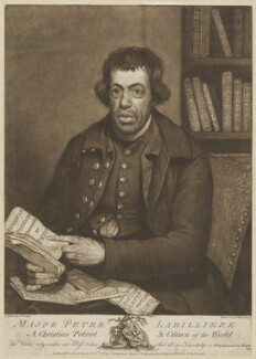 Peter Labilliere, by Henry Kingsbury, published by  John Strongitharm, published by  John Stockdale, after  Joseph Wright - NPG D48097