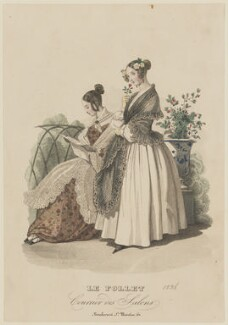 Toilette de Chateau, summer 1836, by Mondain, published in  Le Follet, Courrier des Salons, Journal des Modes - NPG D47712