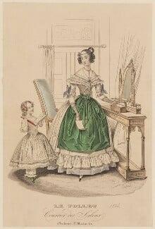 French morning dress, summer 1836, published in Le Follet, Courrier des Salons, Journal des Modes - NPG D47716