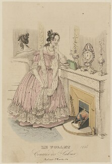 French dinner or evening dress, winter 1836, published in Le Follet, Courrier des Salons, Journal des Modes - NPG D47717