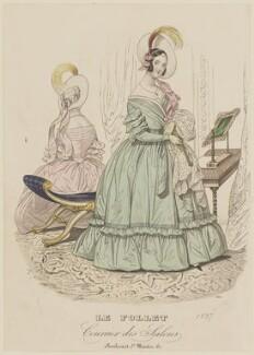 Grand dinner dress, summer 1837, published in Le Follet, Courrier des Salons, Journal des Modes - NPG D47722