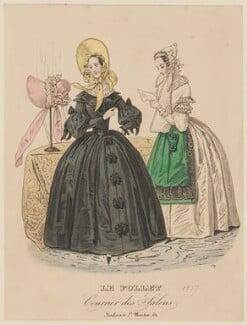 Walking dress and morning dress, autumn 1837, published in Le Follet, Courrier des Salons, Journal des Modes - NPG D47723