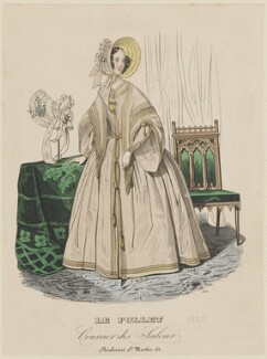 Morning dress, summer 1837, published in Le Follet, Courrier des Salons, Journal des Modes - NPG D47724