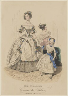 Ball dress, autumn 1837, published in Le Follet, Courrier des Salons, Journal des Modes - NPG D47725