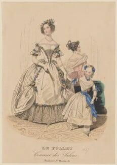 Ball dress, autumn 1837, published in Le Follet, Courrier des Salons, Journal des Modes - NPG D47725