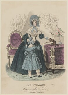 Half-mourning costume, summer 1837, published in Le Follet, Courrier des Salons, Journal des Modes - NPG D47726