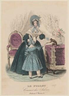 Half-mourning costume, summer 1837, published in Le Follet, Courrier des Salons, Journal des Modes - NPG D47726