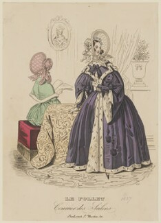 Outdoor garments, autumn 1837, published in Le Follet, Courrier des Salons, Journal des Modes - NPG D47727