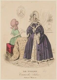 Outdoor garments, autumn 1837, published in Le Follet, Courrier des Salons, Journal des Modes - NPG D47727