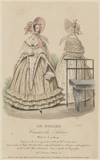 'Modes de Long-champs',  April 1838, published by Dobbs & Co, published in  The Court Magazine and Monthly Critic and Lady's Magazine and Museum - NPG D47734