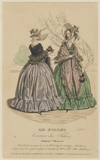 Walking dresses, May 1838, published by Dobbs & Co, published in  The Court Magazine and Monthly Critic and Lady's Magazine and Museum - NPG D47740
