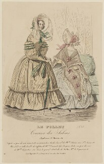 'Costume de promenade', June 1838, published by Dobbs & Co, published in  The Court Magazine and Monthly Critic and Lady's Magazine and Museum - NPG D47741