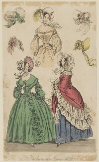 'Fashions for June 1838', published in The New Monthly Belle Assemblée - NPG D47742