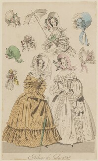 'Fashions for July 1838', published in The New Monthly Belle Assemblée - NPG D47743