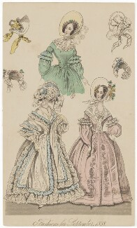 'Fashions for September 1838', published in The New Monthly Belle Assemblée - NPG D47744