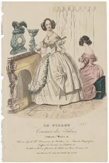 Ball dresses, 1839, published in The Court Magazine and Monthly Critic and Lady's Magazine and Museum - NPG D47752