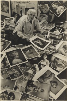 Marcus Adams with some of his works, by Joseph McKeown - NPG x199841