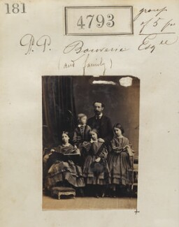 Philip Pleydell-Bouverie and four unknown children, by Camille Silvy - NPG Ax54804